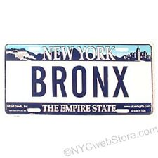 Bronx License Plate Souvenir from New York City Online Gift and Novelty Store