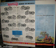 Norton The Unapproachable 1934 Prospekt Information!The Worlds Best Road-Holder