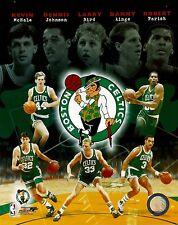"Boston Celtic Legends McHale, Johnson, Bird, Ainge & Parisn   8"" x 10"" Photo"