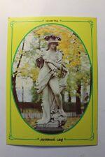Vintage Russian Postcard Summer Garden Bellona Monument