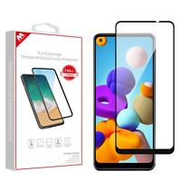 For Samsung Galaxy A21 Premium Screen Protector Guard Tempered Glass Full Cover