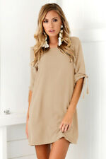 Womens Summer Plus Size Long T-shirt Ladies Casual Party Mini Dress Blouse Tops