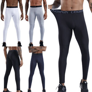 Mens Compression Base Layer Workout Leggings Gym Sports Running Training Pants