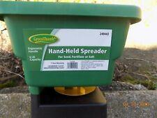 Green Thumb Hand Held Broadcast Fertilizer,Grass Seed, Salt Spreader Seeder