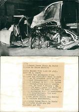 Accident de la route en Haute-Garonne, novembre 1964 Vintage silver print