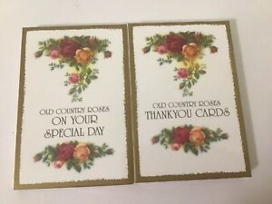 2pkts Royal Albert Old Country Roses Cards - THANK YOU + ON YOUR SPECIAL DAY