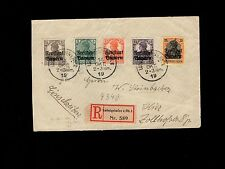 Germany Bavaria Germania Overprint Registered Ludwigshafen 1919 FRONT ONLY 7m