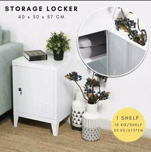 Metal Locker Steel Stationary Cupboard File Side Table Storage Cabinet Shelf