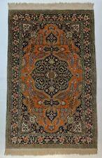 Orange Kashmir Silk 4 x 6 feet Rug Imperfect rectangle Oriental 324 KPSI Carpets