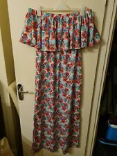 Size 16/18 Be You Pink/Blue/Green/White Flowery Summer/Holiday Dress
