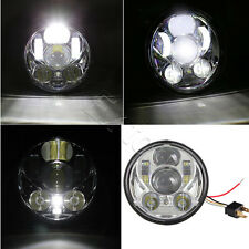 LED Light Bulb Headlight fits Harley 1x Chrome 5.75 5 3/4 Motorcycle Projector