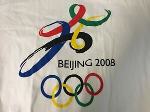 2008 Beijing Olympics China T-Shirt XL - white