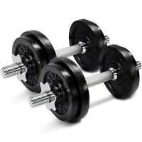 Yes4All 40 lb Adjustable Dumbbell Weight Set - Cast Iron Dumbbells