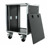 10U Slam Lid Rack Flight Case with Wheels - Select your Depth (Rack to Rack)
