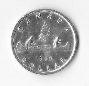 1955 Canadian Silver Dollar (see description) luster