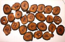 APPLE Branch Wood RUNE SET #4 Elder Futhark Runes Wicca Pagan Divination