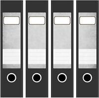 4 Ordner Etiketten Rücken-schilder selbstklebend Aktenrücken kurz breit Neu 2