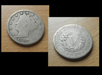 FIVE CENTS USA   V Cent 1897   coin Münze Kleingeld money Nickel Sammlerstück