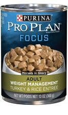 Purina Pro Plan FOCUS Weight Management Turkey Rice Entree Morsels In Gravy 12Pk