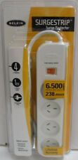 New Belkin F9E400vau1M 4 Way Surge Protected Power Board 1mtr Cable AUS Plugs
