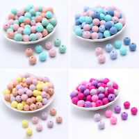 Round Silicone Loose Beads Baby Teething DIY Teether Jewelry Bracelet Toy Making