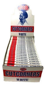 24 Packs Job Cutcorners 1.0 Single Wide Cigarette Rolling Papers Kutcorners 70mm