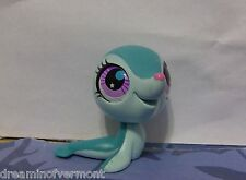 Littlest Pet Shop Blue Seal with Purple Eyes #2743 New Loose