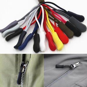 10Pcs Zipper Pull Puller End Fit Rope Tag Fixing Zip Replacement for Jacket Bag