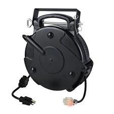 Heavy Duty Industrial Retractable Extension Cord Reel 45 Foot 20 Amp Single Tap