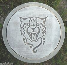 Cougar leopard stepping stone mold plastic garden casting mould