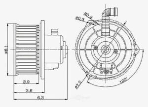 HVAC Blower Motor fits 1993-1997 Subaru Impreza Legacy  GLOBAL PARTS