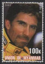 DAMON HILL FORMULA 1 MOTOR RACING 2001 MNH STAMP
