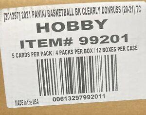 BOSTON CELTICS - 2021 CLEARLY DONRUSS NBA - 12 HOBBY BOX - PYT CASE BREAK