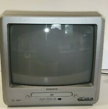 "Magnavox MWC13D6 13"" Color TV DVD Combo Front Gaming Inputs CRT Vintage/Retro"
