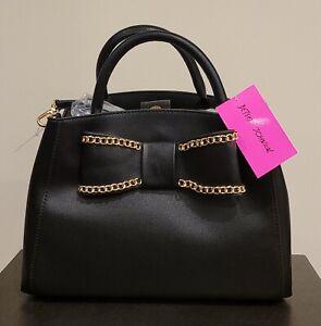 Betsey Johnson Black Satchel Handbag
