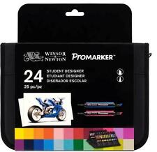 TROUSSE 24  PROMARKER WINSOR&NEWTON DOUBLE POINTE  BASE ALCOOL  ETUDIANT