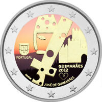 2 Euro Gedenkmünze Portugal 2012 coloriert / mit Farbe Farbmünze Guimares