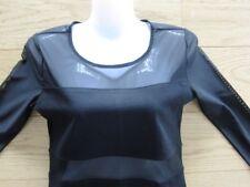 H&M sexy Mini Kleid schwarz mit Chiffon Netzoptik Gr. 38 wie NEU