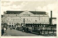 uralte AK, Koblenz am Rhein, Schiffbrücke mit Koblenzer Hof (Hotel, Kneipe) 1933