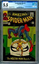 Amazing Spider-Man # 35  CGC 5.5 OWW!  Second Molten Man!  Ditko!