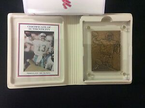 Dan Marino 1994 Highland Mint Sports Collection Bronze Card