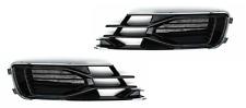 AUDI A6 C7 14-18 2x Stoßstange Gitter Blende Nebelscheinwerfer R+L CHROM