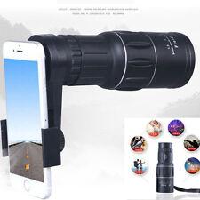 16x52 Zoom Hiking Concert Camera Lens Monocular Telescope Universal Phone Clip !