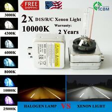 2x New D1S 10000K OEM HID Xenon Headlight Replacement for Philips/OSRAM Bulbs