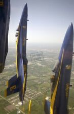 US NAVY USN BLUE ANGELS F/A-18 Hornets aircraft 12X18 Photograph