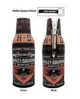 Harley-Davidson Conquest Black Bottle Wrap Zippered w/ Bottle Opener BZ121730