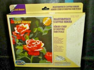 "2004 Craft House ""ROSES"" Masterpiece Canvas Series PBN  Part #"
