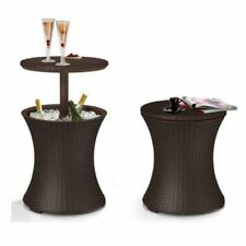Patio Bar Party Drink Cooler Ice Table Pool Rattan Bbq Outdoor Furniture Pub