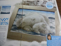 Cross Stitch Chart Snow Dreams Sleeping Polar Bear & Cub Maria Diaz (0021C)