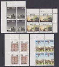 IRELAND, Scott #608-611: Plate Blocks(4), MNH - 1985 Anniversaries